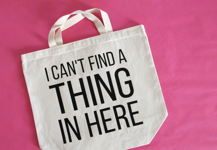 can't find a thing bag step two
