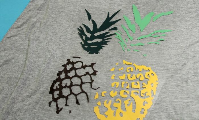 DIY pineapple t shirt