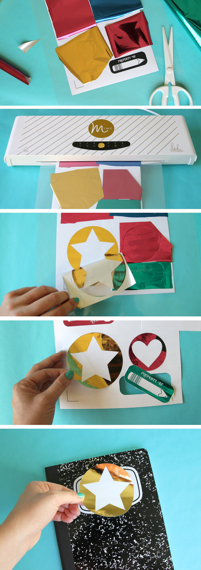 make your own foiled name labels