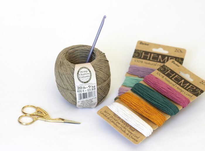 Crochet hemp scrubbies - hemp is naturally antibacterial, which makes these little scrubby pads perfect for cleaning!