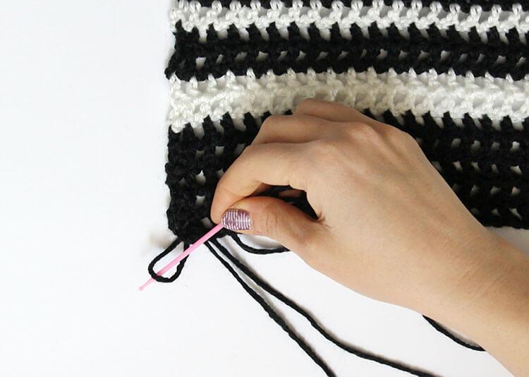 plaid scarf step two