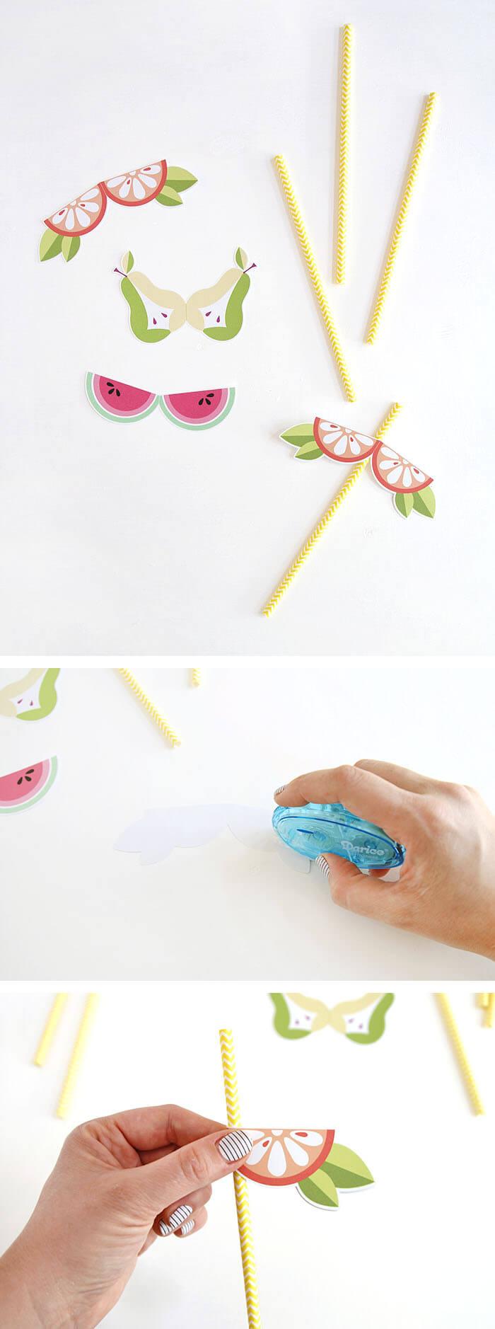 how to make DIY Fruit Straws
