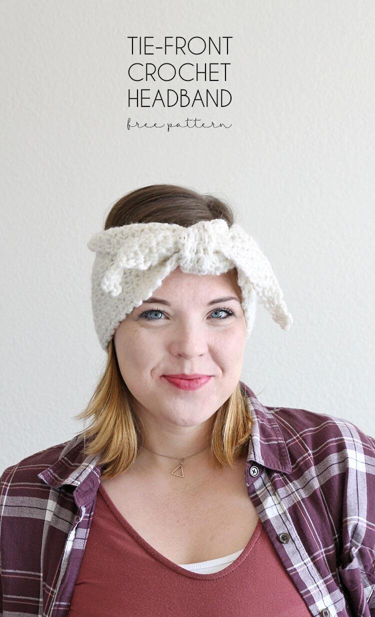 tie-front-crochet-headband
