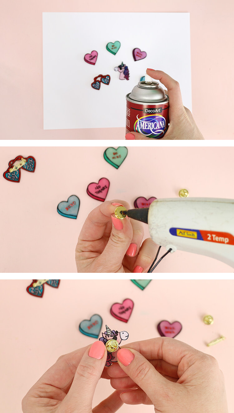 how to make pins - assemble