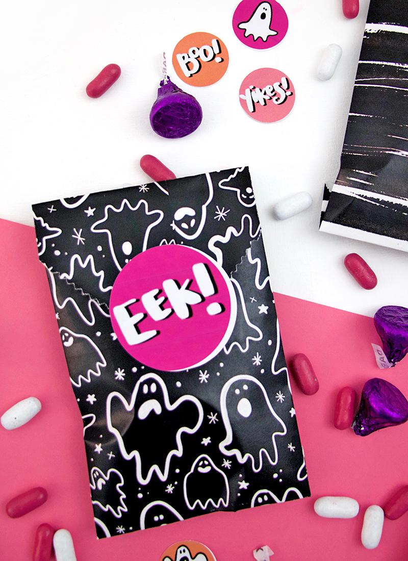 halloween goodie bags! free downloads - diy printable treat bags