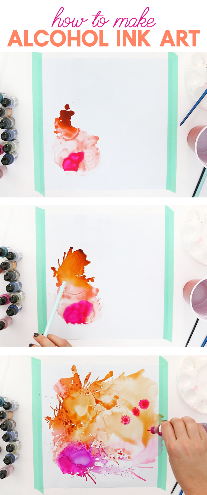 learn how to make cool abstract alcohol ink art on vinyl!