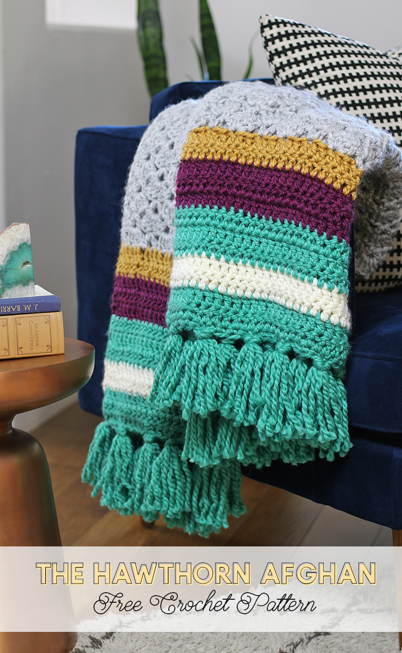 The Hawthorn Afghan - Free Crochet Afghan Pattern