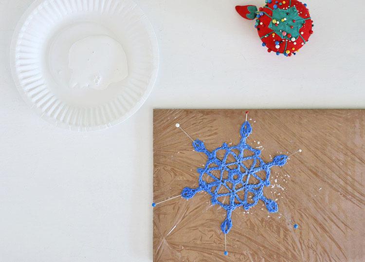 fabric stiffener - crochet snowflakes
