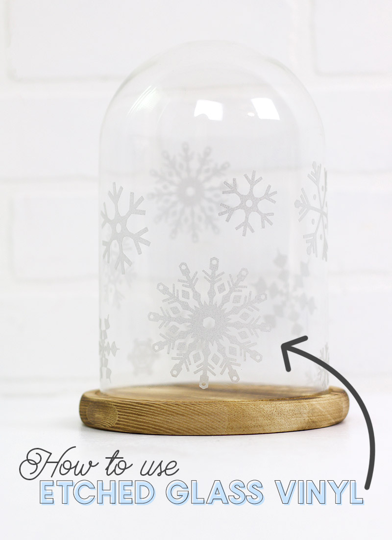 how to use etched glass vinyl