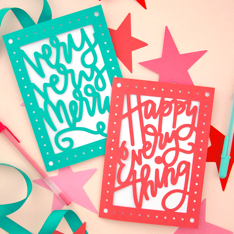 Download Paper Cut Christmas Card DIY - Free SVG Cut Files - Persia Lou