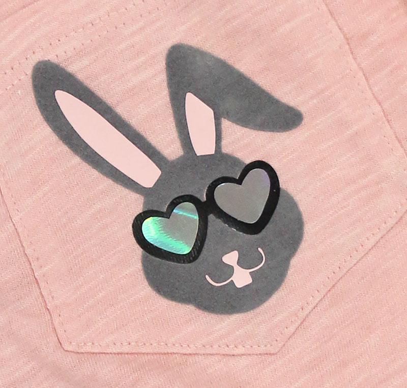 cool bunny boys easter shirt detail