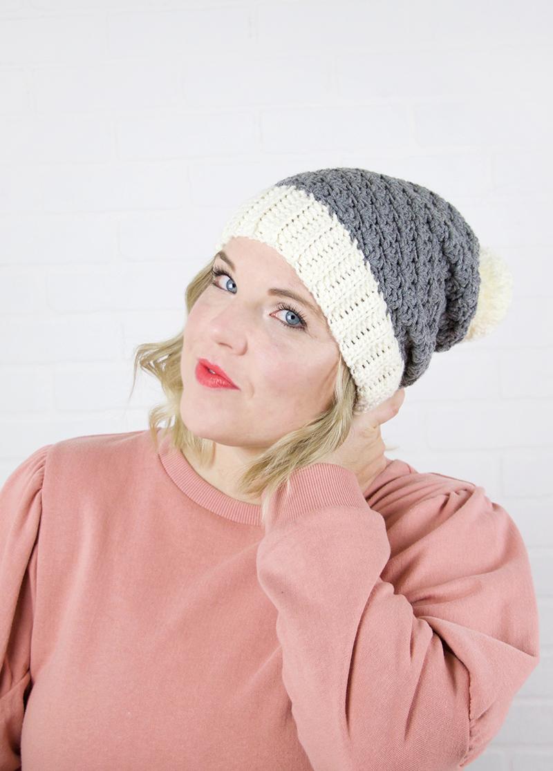 slouch shell crochet hat pattern