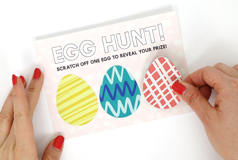 how to make colorful diy scratch off cards for easter