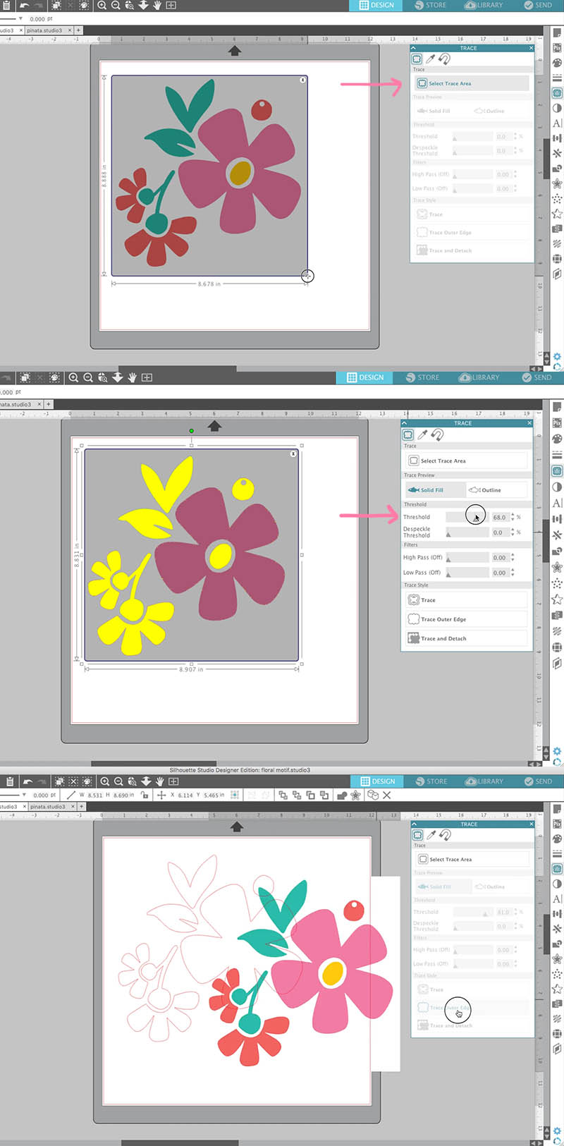 how to trace in silhouette studio