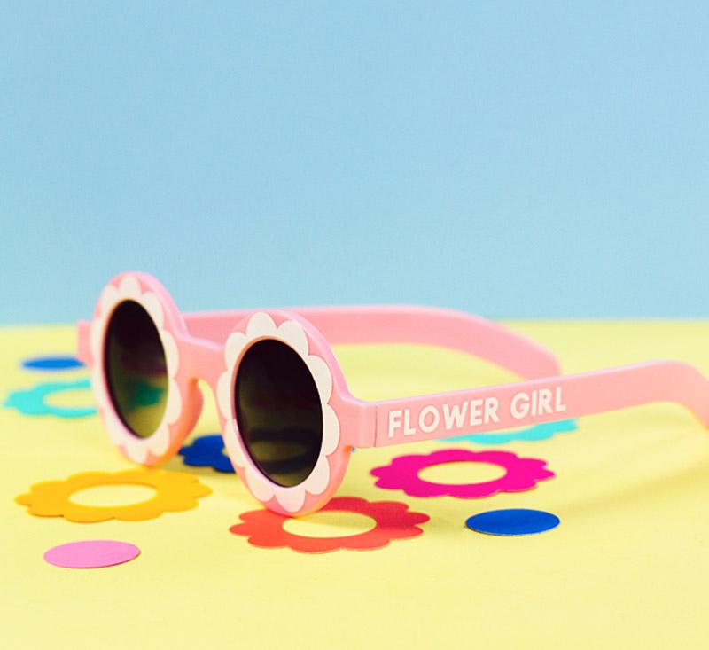 diy flower girl custom sunglasses