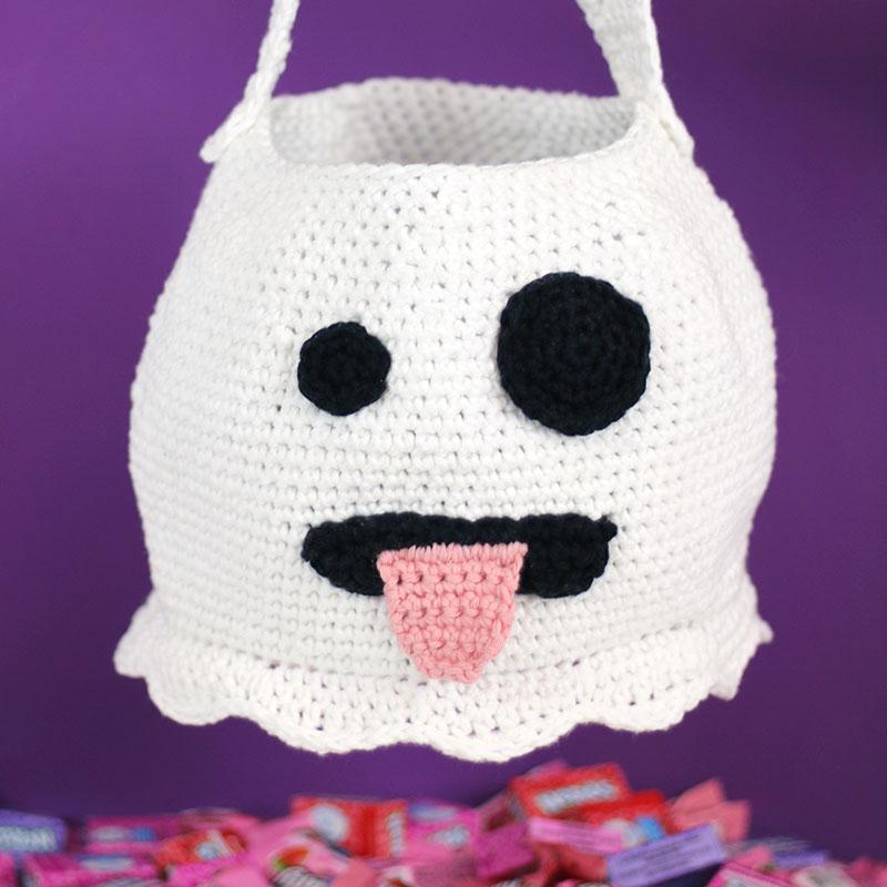cute crochet ghost bag free halloween crochet pattern