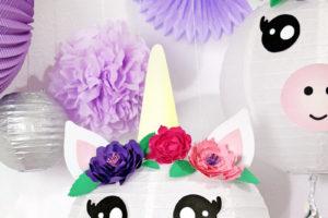 DIY Unicorn Paper Lantern Party Decorations