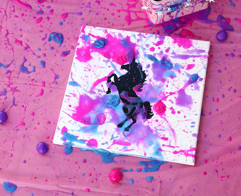 unicorn splatter art goblies diy unicorn party craft