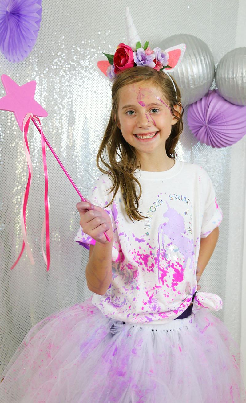 unicorn squad post paint fight unicorn party