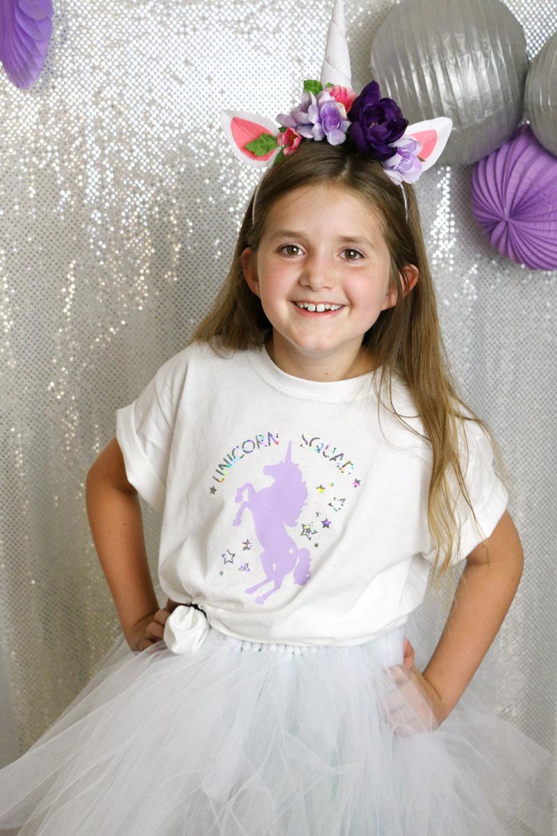 diy unicorn squad shirt - free cut file