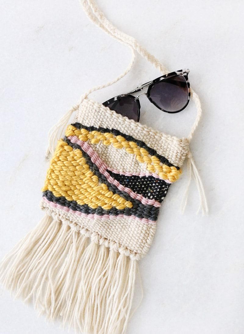 Finished DIY Woven Bag