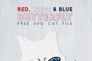 Free Red, White & Blue Butterfly SVG Cut File