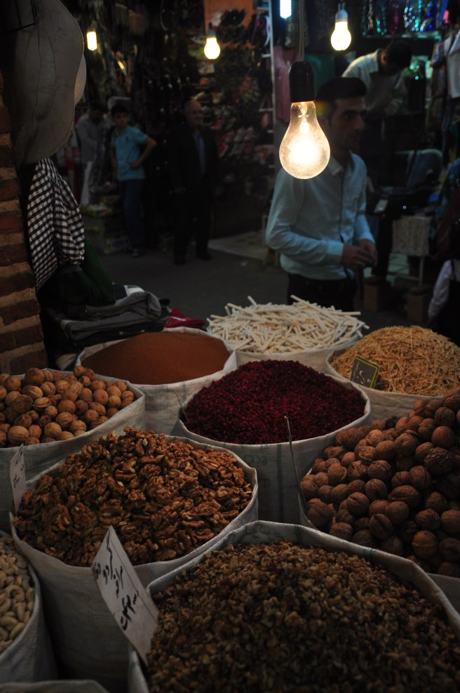 Dried fruit in Mashad's Grand Bazaar