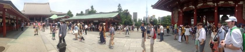 Asakusa Temple forecourt