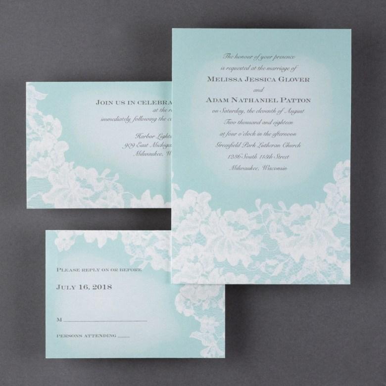 lace invitation watercolor romantic
