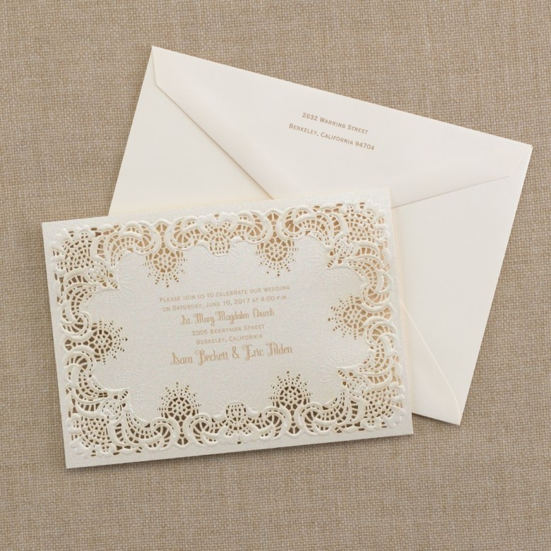lace invitation laser cut
