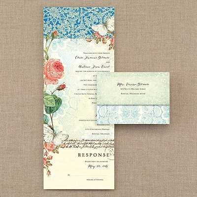 lace invitations roses vintage