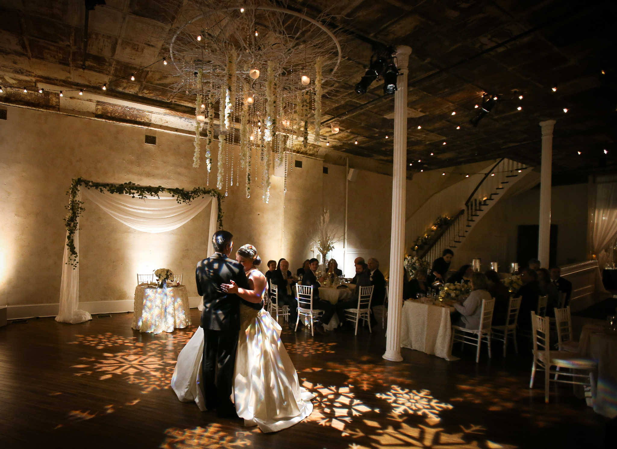 winter wedding dance floor