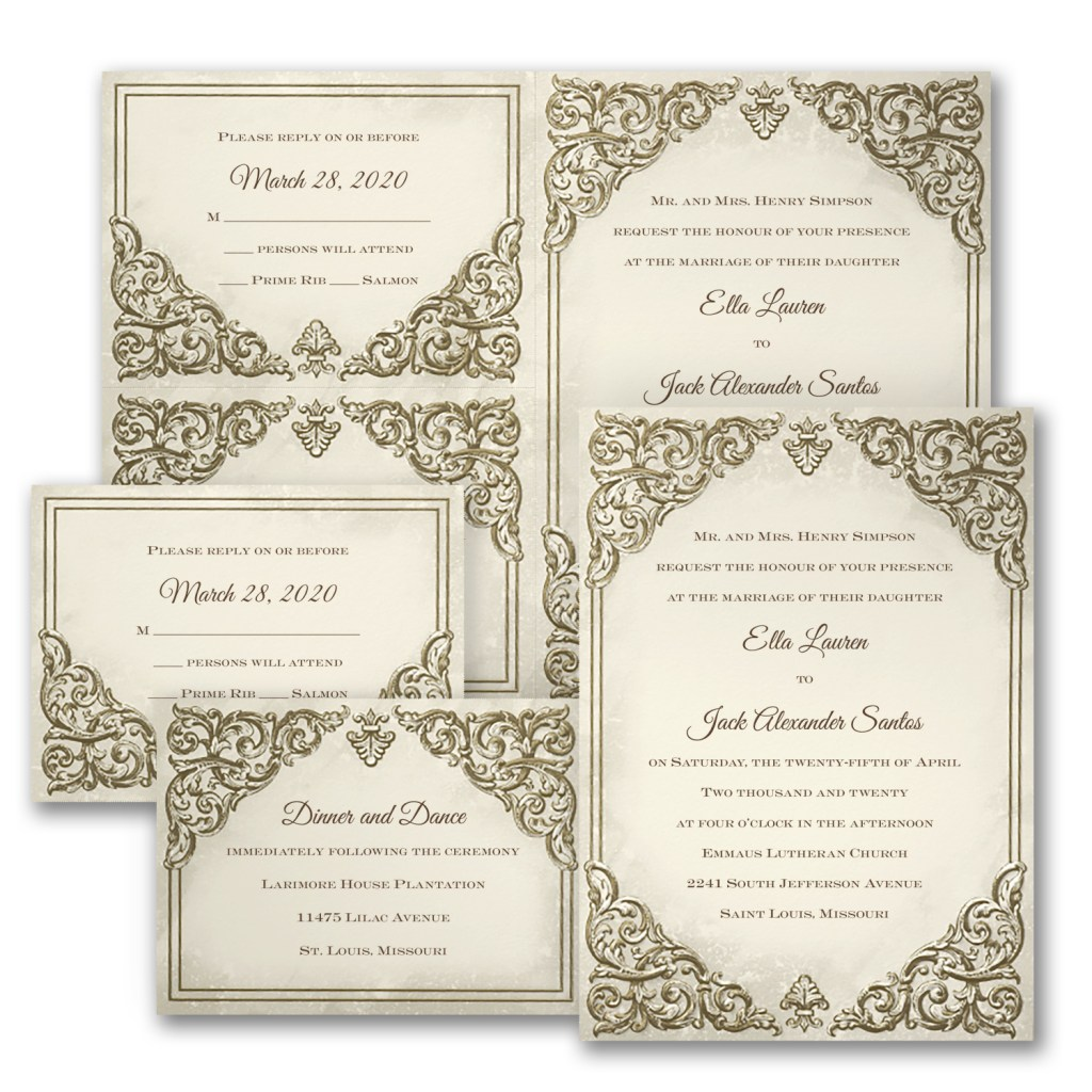 baroque beauty invitation