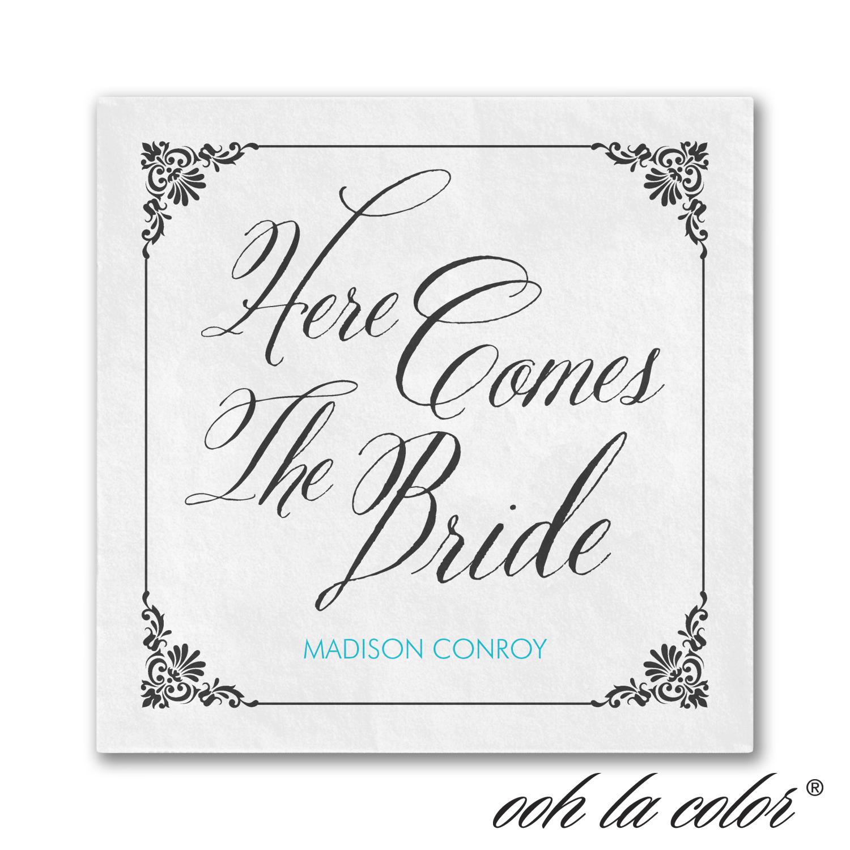 bride damask napkins bridal shower
