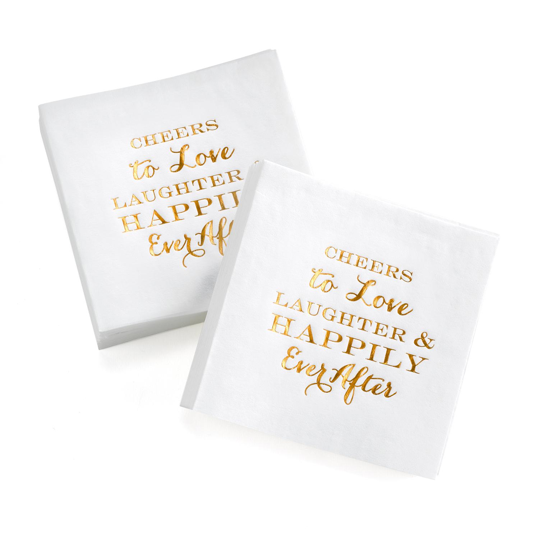 Cheers and Love napkins