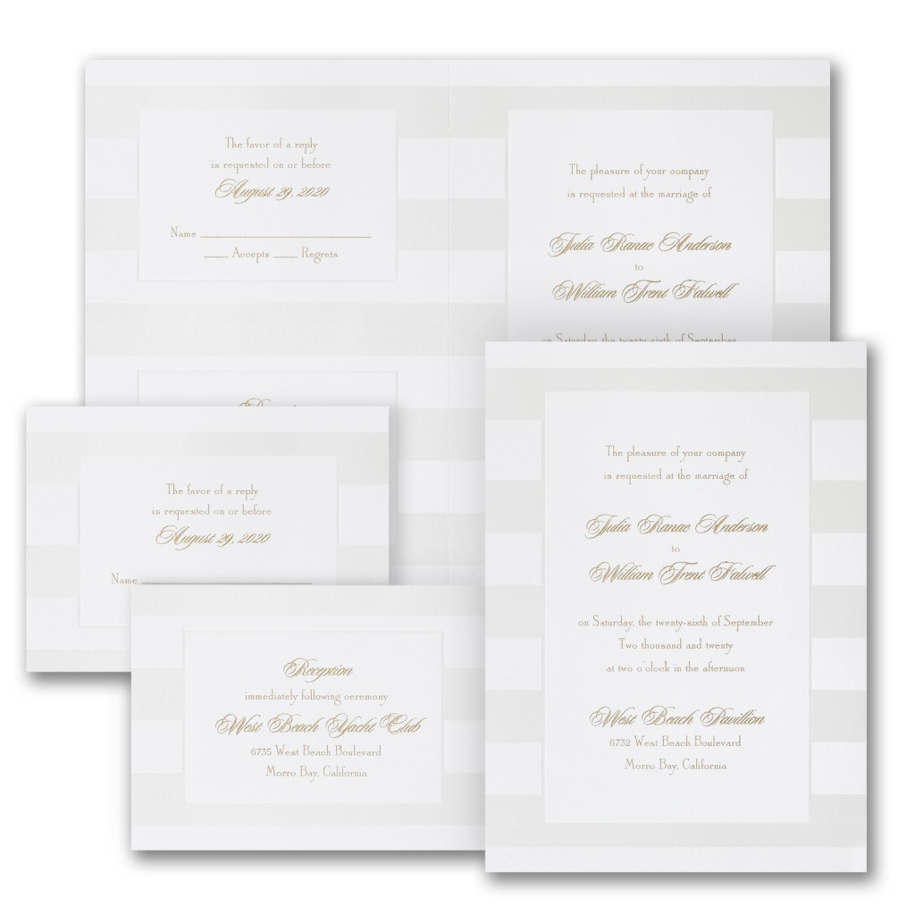 confident stripes wedding invitation budget friendly