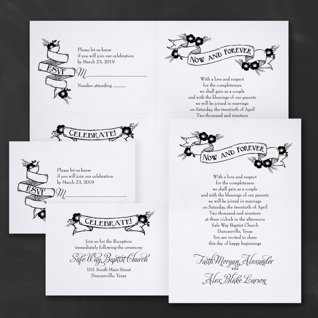 forever is now wedding invitation budget friendly