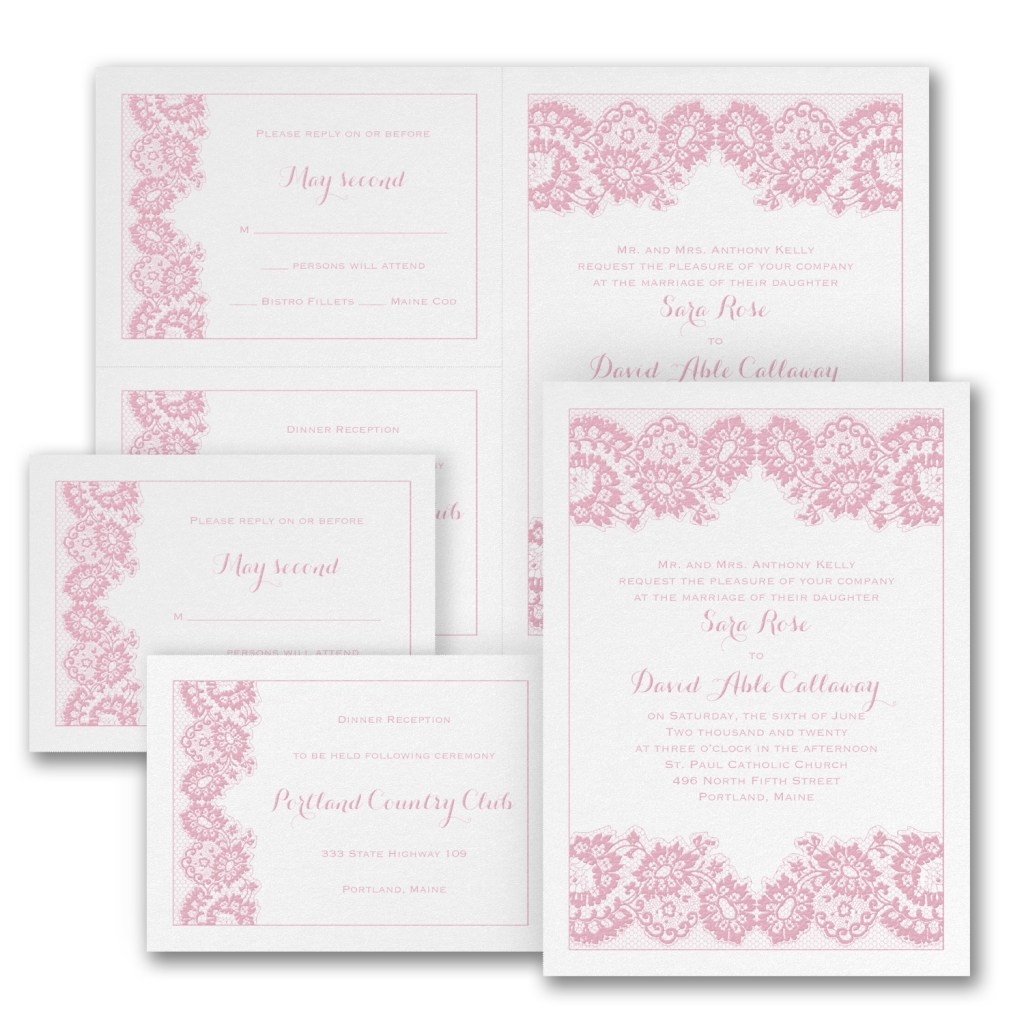 french lace wedding invitation budget friendly