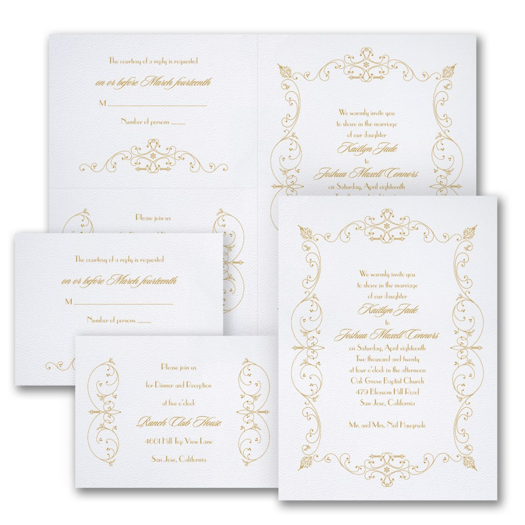 french romance wedding invitation budget friendly