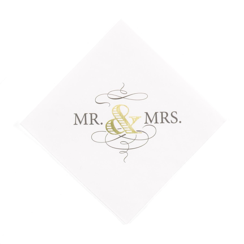 golden elegance wedding cocktail napkins