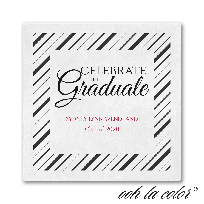 grad celebrate napkin