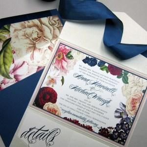floral envelope liner