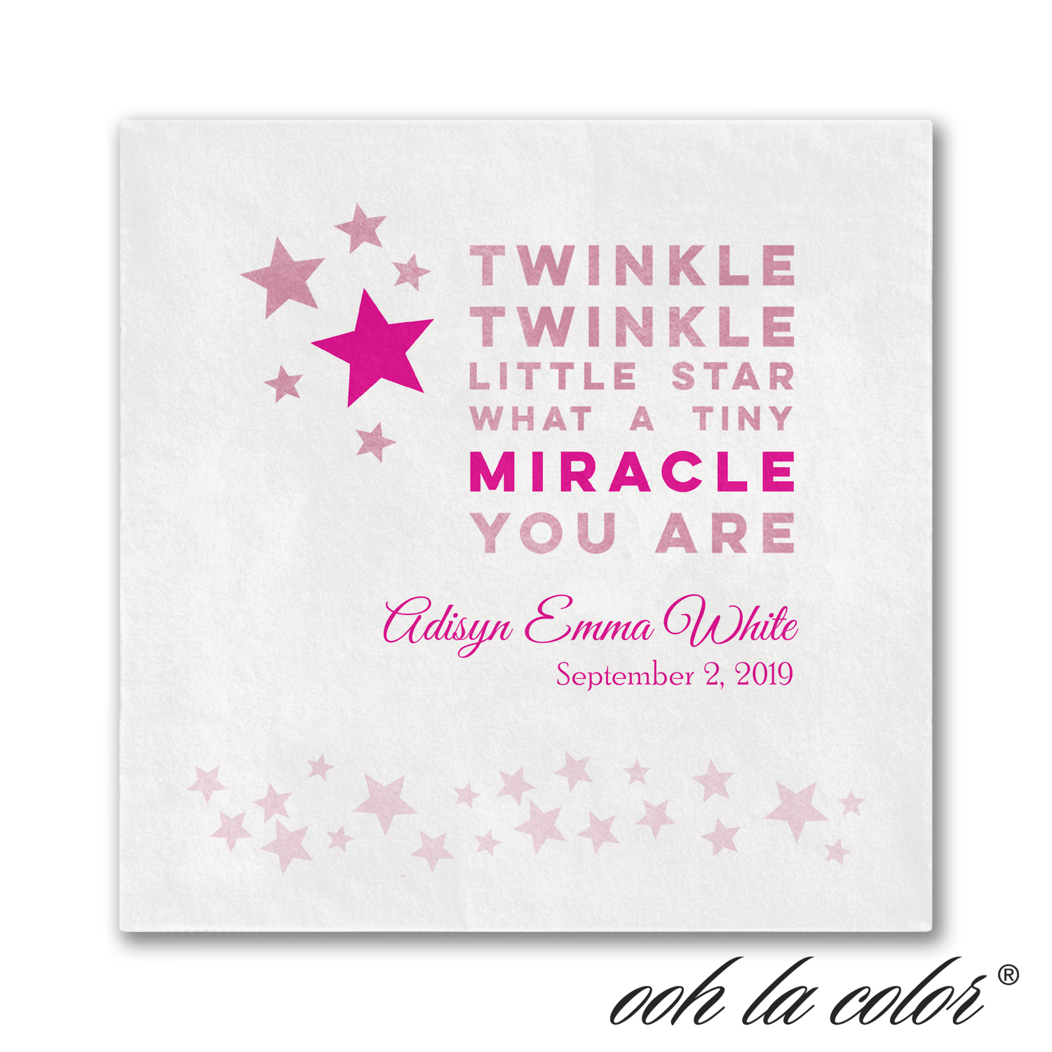 miracle twinkle napkin baby shower