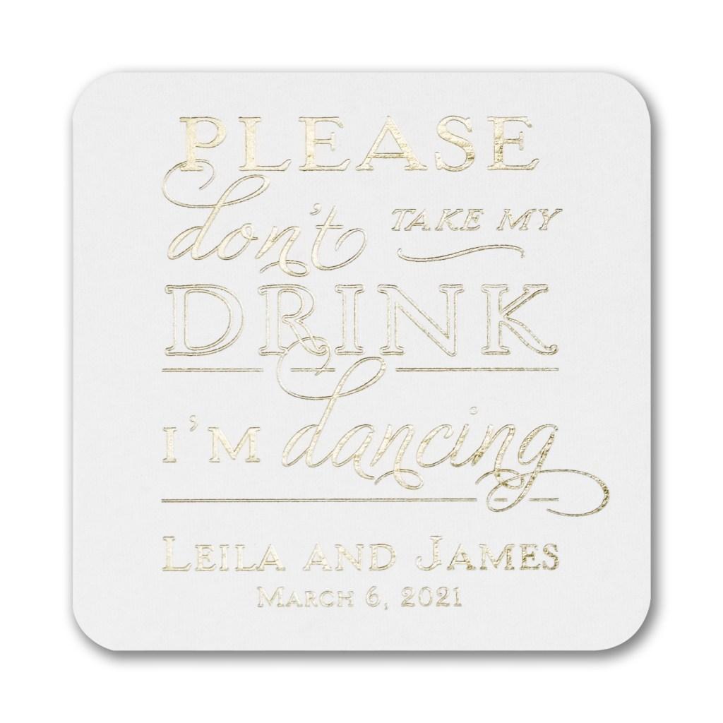dance drink coaster