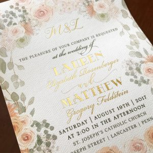 Custom all-in-one wedding invitation