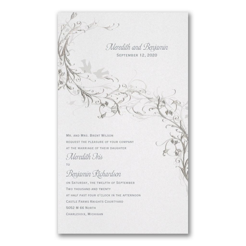 silver vines invitation