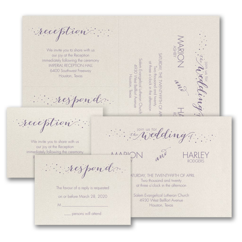 wedding dots invitation budget friendly