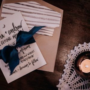 hand lettered invitation liner