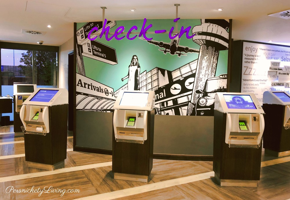 Self check-in kiosks at Premier Inn T4