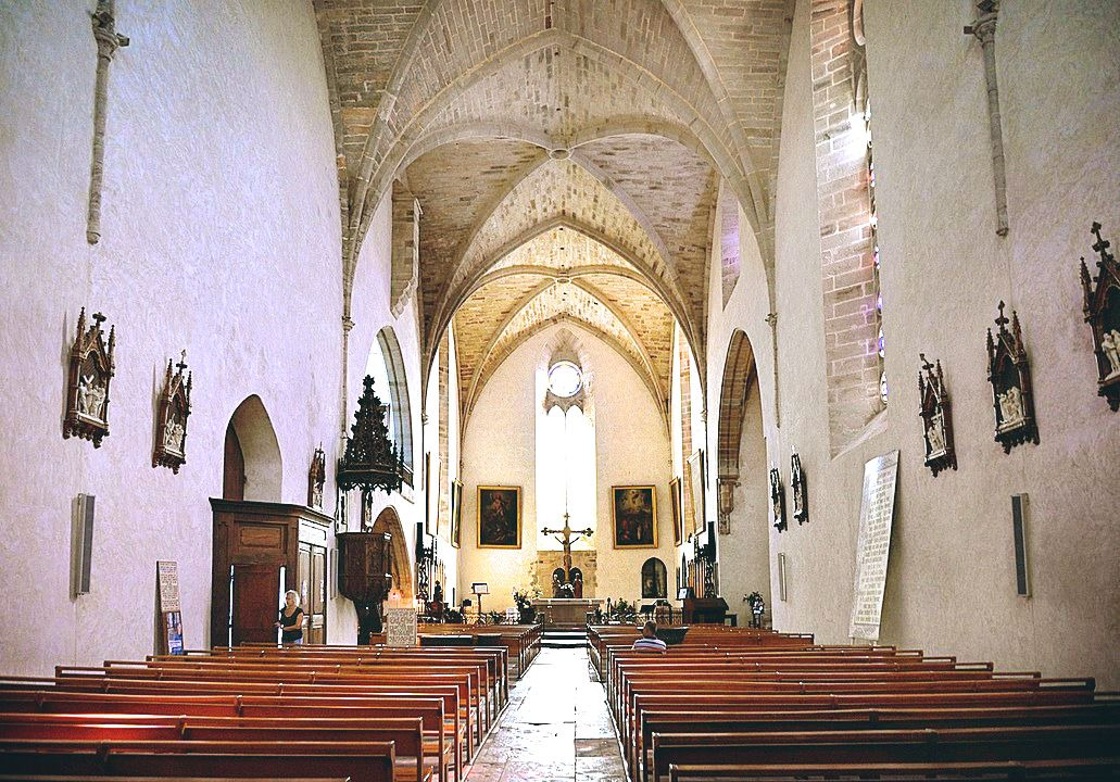 Interior of the Church of Saint Jean Najac